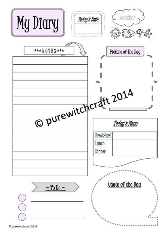 my diary vorlage f r filofax a5 printable einlagen in rosa. Black Bedroom Furniture Sets. Home Design Ideas