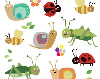 Fabric Insect Wall Stickers
