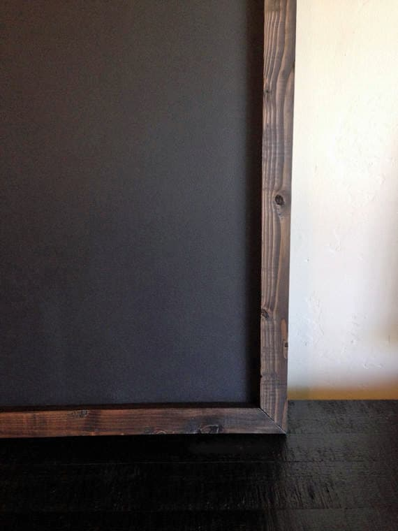 Large Magnetic Chalkboard 24x36 Rustic Frame By Krohndesigns