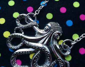 Silver Octopus Necklace