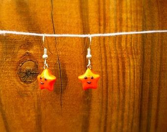 Adorable Orange Smiley Star