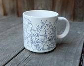 "Taylor & Ng Rabbit Mug, Animates Series ""Blue Daytime"" 1979"