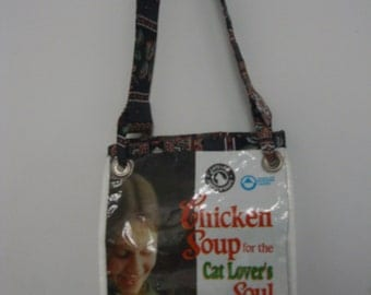 recycled cat food purse