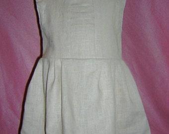 robe lin écru enfant 1 an