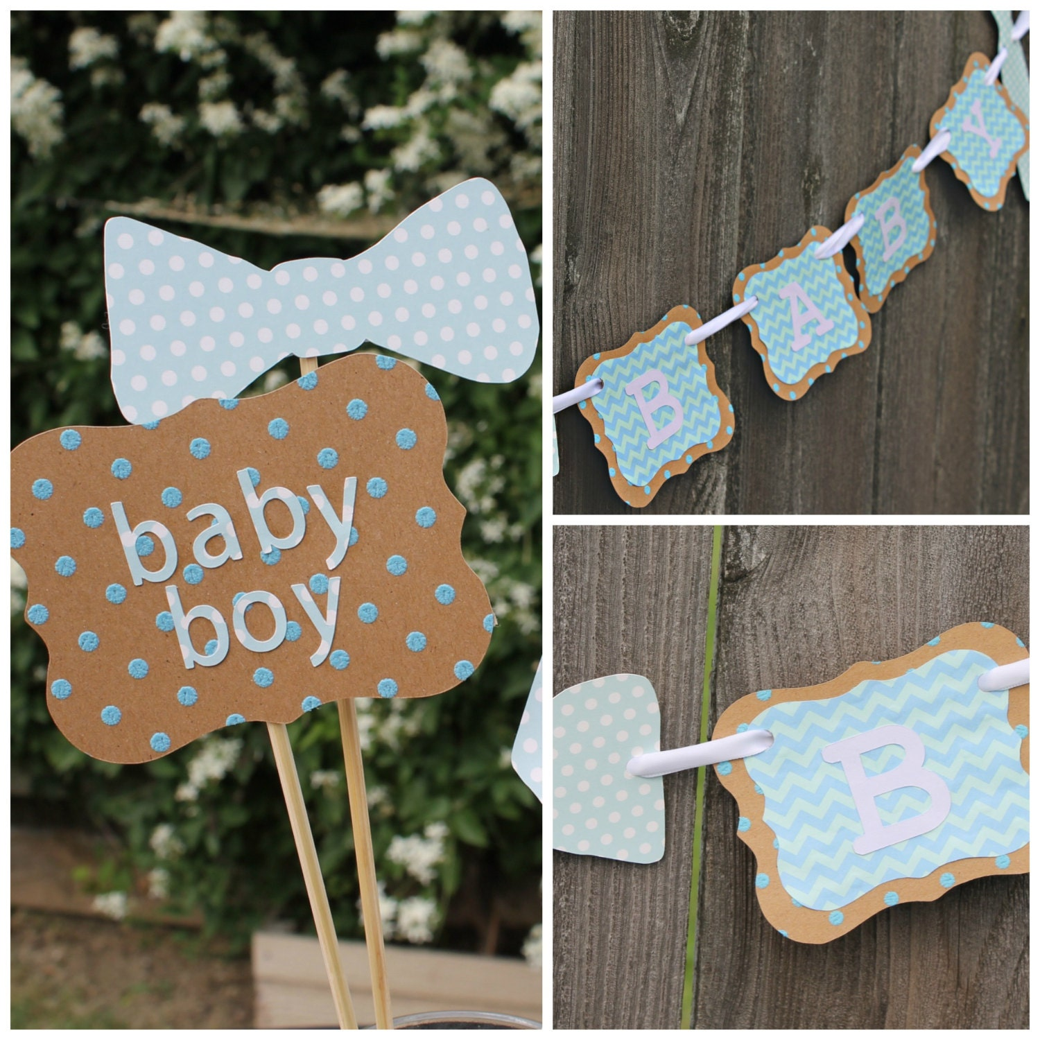 little man baby shower decorations bow ties by fancypantscompany