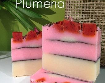 Plumeria Handmade Cold Process CP Artisan Soap - Vegan