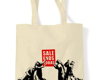 Banksy Sale Ends Shopping Bag