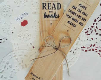 WEDDING BONBONNIERE BUNDLE - wooden bookmarks