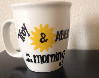 Community Troy and Abed in the Morning #sixseasonsandamovie mug MADE TO ORDER