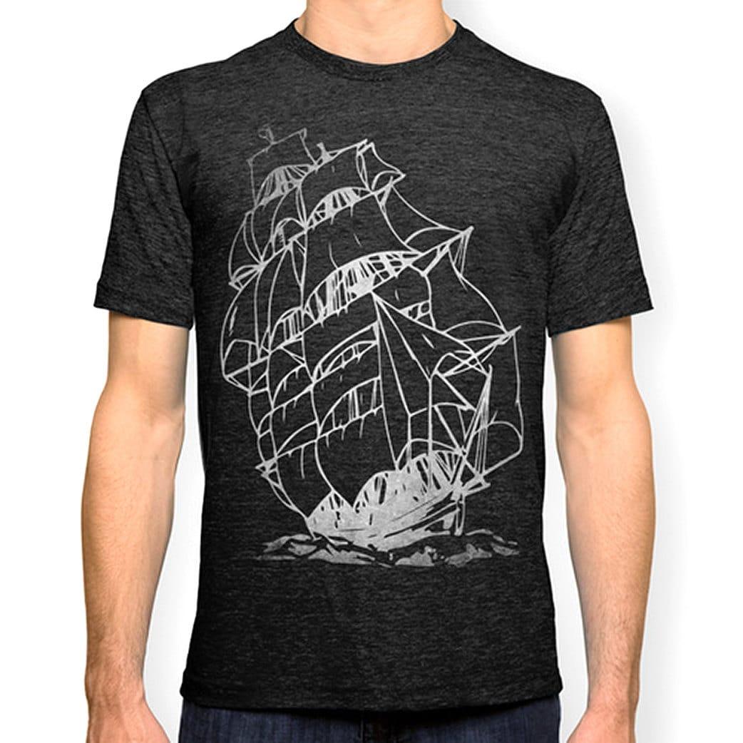 pirate ship t shirt nautical t shirt sailing ship t shirt