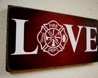 Firefighter Gift, Fireman Gift, Firefighter Decor, Fireman Decor, Firefight Sign, Fireman Sign, Firefighter Wedding, Fireman Wedding