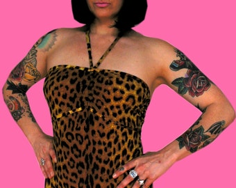 Jody Bell's Leopard Print High Top Leg Onepiece Swimsuit