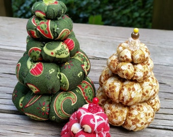 Cream Puff Christmas Trees - Set of 3