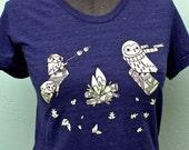 CAMPING shirt women's camping t-shirt, campfire t-shirt, women's silkscreen tshirt camp fire clothing
