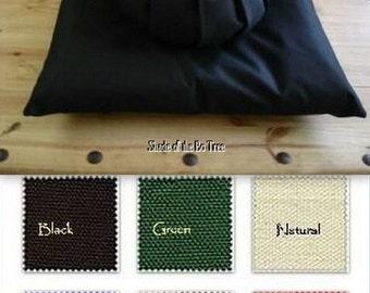 Handmade Meditation Cushion Set Zafu and Zabuton Cotton Canvas You Choose Color Free Shipping!