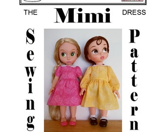 Dress Sewing Pattern Mimi for Disney's Animators' Collection Princess Toddler Doll by Dolly Delicacies