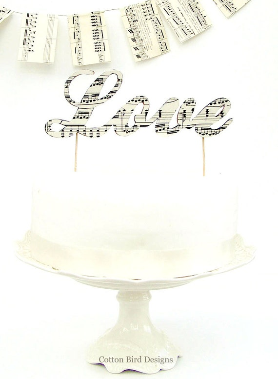 musical wedding cake toppers wood letters wedding cake topper 17665