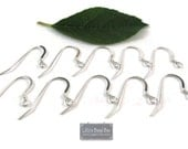 5 Pairs of Silver Earwires, .925 Sterling Silver Earhooks, French Wires, Five (5) Pair, Jewelry Supplies, Earring Findings (F-258s)