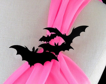 Bat Brooch - Laser Cut Acrylic - Bat Pin - Halloween Jewelry - Halloween Brooch - Bat Jewelry