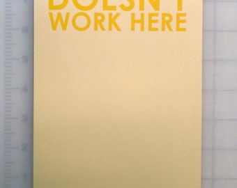 Your mother doesn't work here - Passive Aggressive Note pad - Notepad for messy coworkers