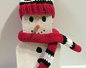 Chicago Blackhawks Snowman with Cap & Scarf Boston Bruins New York Rangers Washington Capitals Pittsburgh Penguins NHL Hockey Decoration