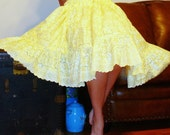 Miss Ruby at home ~ Soft eyelet and tulle skirt / pettiskirt with tiers of ruffles and a tulle underlayer