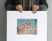Chinese Dragon Photo, Blue Art Print, Oriental Photography, Modern Beach Decor, Turquoise Wall Art, Asian Decor, Dragon Art, Photo of China