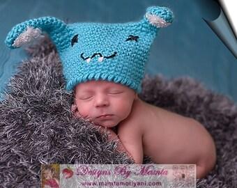 Crochet Buckteeth Bunny Beanie Pattern, Crochet Rabbit Hat Pattern, Baby Hat Crochet Patterns, Easter Bunny Hat Pattern For Babies