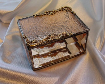 Peach and brass gift box