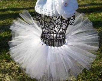 White Christmas tutu- Color Run tutu- Angel tutu- Angel Costume- Winter tutu-  2t 3t 4t 5t- White tutu- Snow tutu- Toddler Angel tutu