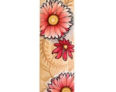 Baby Girl Skateboard deck/ Original flower design for children and nursery decor
