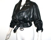 Reserved...................GIANNI VERSACE Vintage Leather Jacket Safety Pin Biker Style - AUTHENTIC -