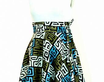 "Plus Size african print Skirt / Women plus size high waist ( 2 - 24 ) 30"" L"
