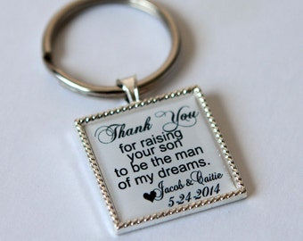 gift for father of groom gift, father in law gift, mother of the groom, mother in law gift, wedding keepsake gift, custom quote keychain