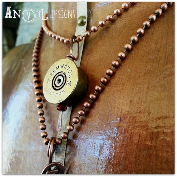 Bullet Necklace, Bullet Jewelry, Bullet Pendant, Shotgun Shell, Necklace, Cowgirl Necklace, Country Girl, Shooting, Hunter, Bullet, Quartz
