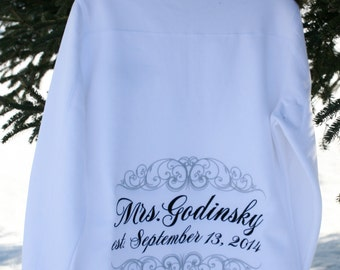 LADIES fit 1/4 Zip Personalized Wedding Sweatshirt - Mrs, Soon to Be, Future Mrs, Bride - Personalized just for you - GREAT GIFT