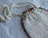 Vintage Child's Crochet Purse