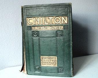 Chilton Flat Rate Manual, Vintage Ninth Edition 1935, Classic Car Manual