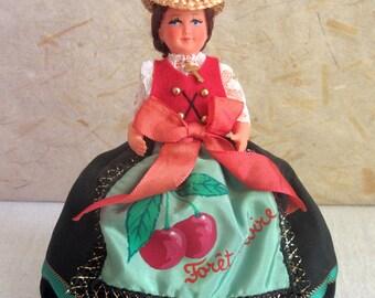 German/French Schwarzwald (Black Forest) costume doll, folk doll, vintage, European doll, Petitcollin