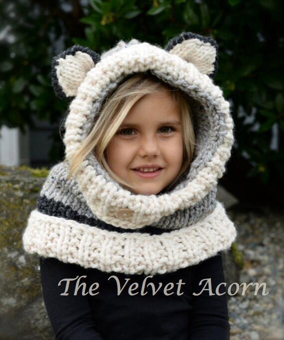 Knitting PATTERN-The Wren Wolf Cowl 12/18m ToddlerChild