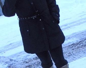 BLACK Fleece Boot Liners, Rainy Days, Springtime, Woodland, Outdoor, Fleece Sock, Size Med/Lg 9-11