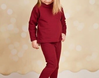 Little Girl Tights - Leggings - Ruby Red - Eco Friendly  - Organic Clothing
