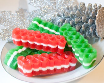 Ribbon Candy Soap - Green and Red - Candy Cane