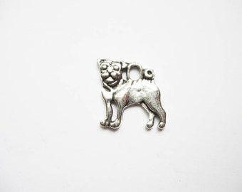 8 Dog Charms in Silver Tone - C1874