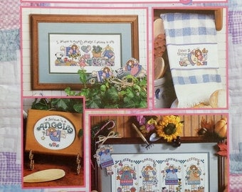 50%OFF Good Natured Girls SEASONS OF Angels (Multiple Designs)  - Counted Cross Stitch Pattern Chart Booklet