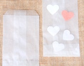 20 Sacchettini piccoli di carta pergamino - 20 Glassine Bags