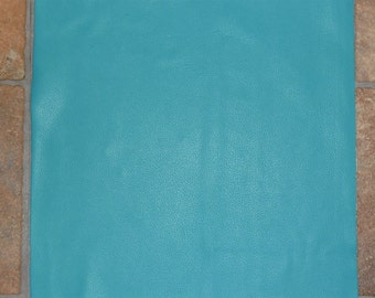 "Leather 12""x20"" True Turquoise DIVINE Leather Cowhide Top Grain 2-2.5 oz /.8-1 mm PeggySueAlso"
