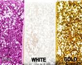 "5/8"" Metallic Glitter Ribbon 5 Yards"