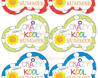 View g i f t t a g s by imaginecreateadore on etsy diy printable summer collection crazy kool summer gift tags negle Gallery