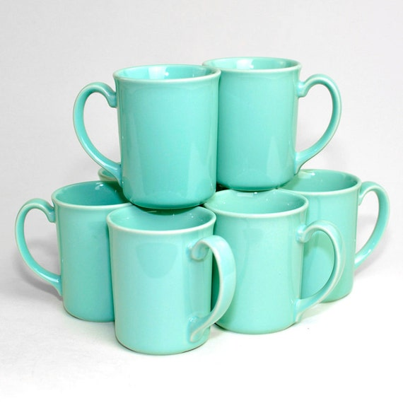 Corning Aqua Coffee Cups 8 Gorgeous Microwavable By